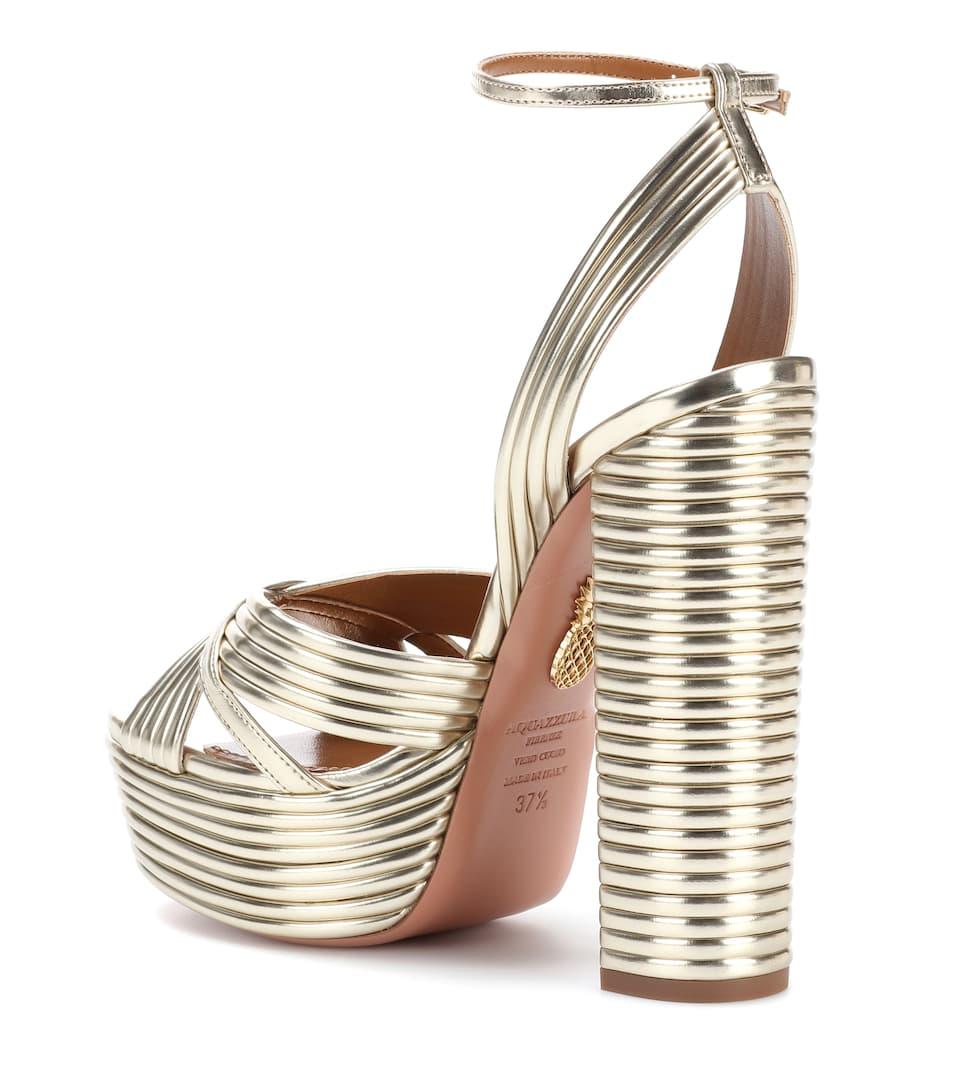 Sandales En Cuir Aquazzura