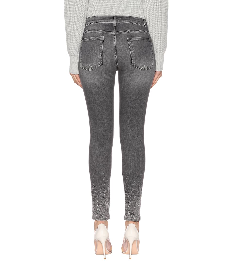 Skinny The For 7 Gris jeans Crop All adornados Mankind AwIqaqgZt