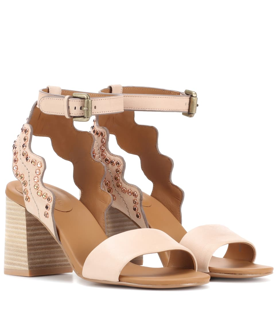 1ec295e0b7d27 See By Chloé - Embellished leather sandals