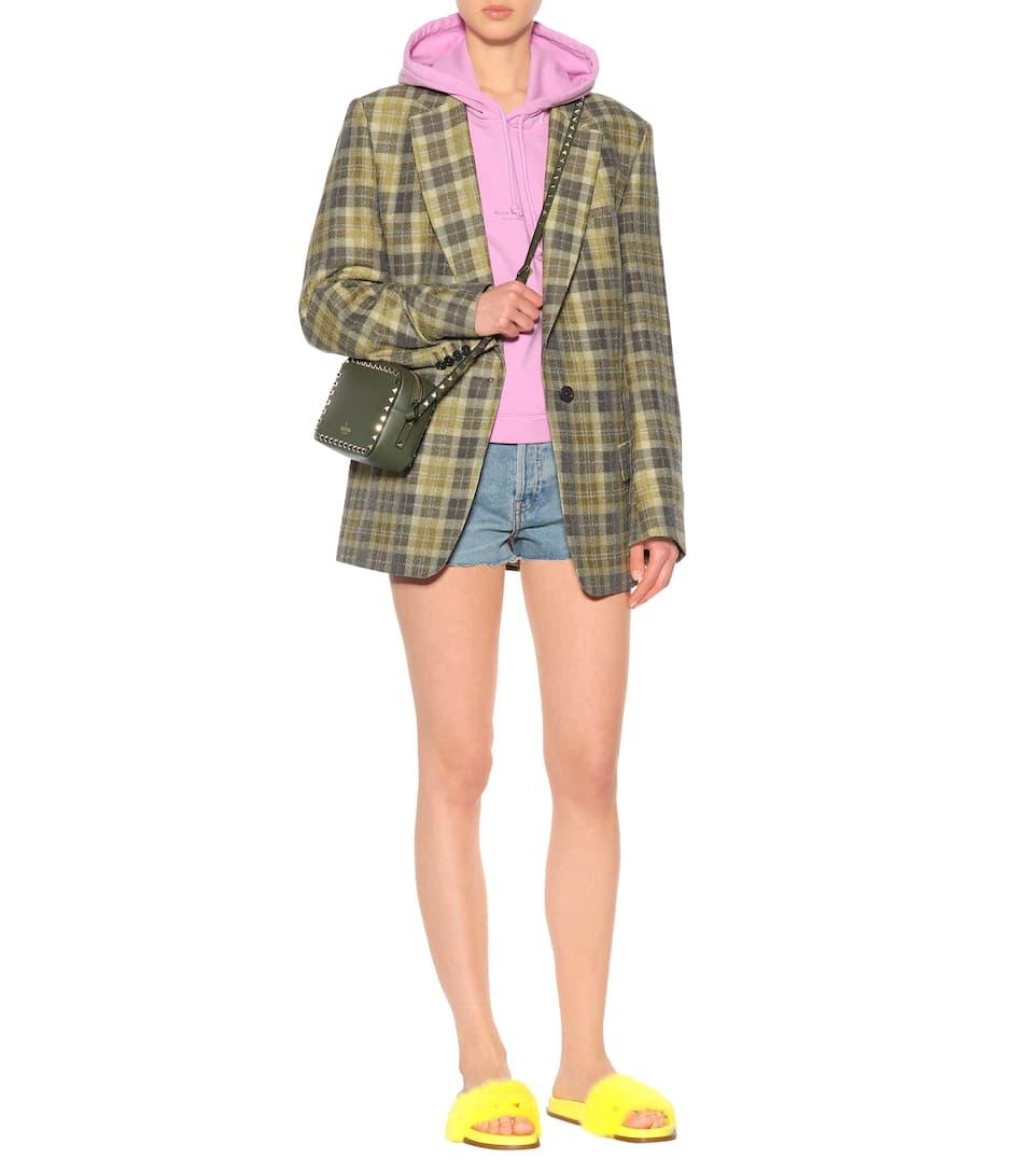 Valentino Valentino Garavani mink fur slides Lemon Sale Best Prices WAqYHM
