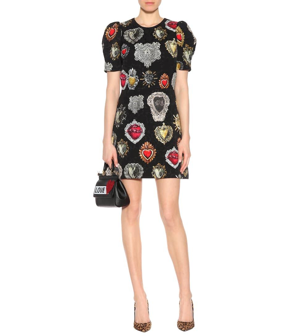 Dolce & Gabbana Kleid aus bedrucktem Brokat