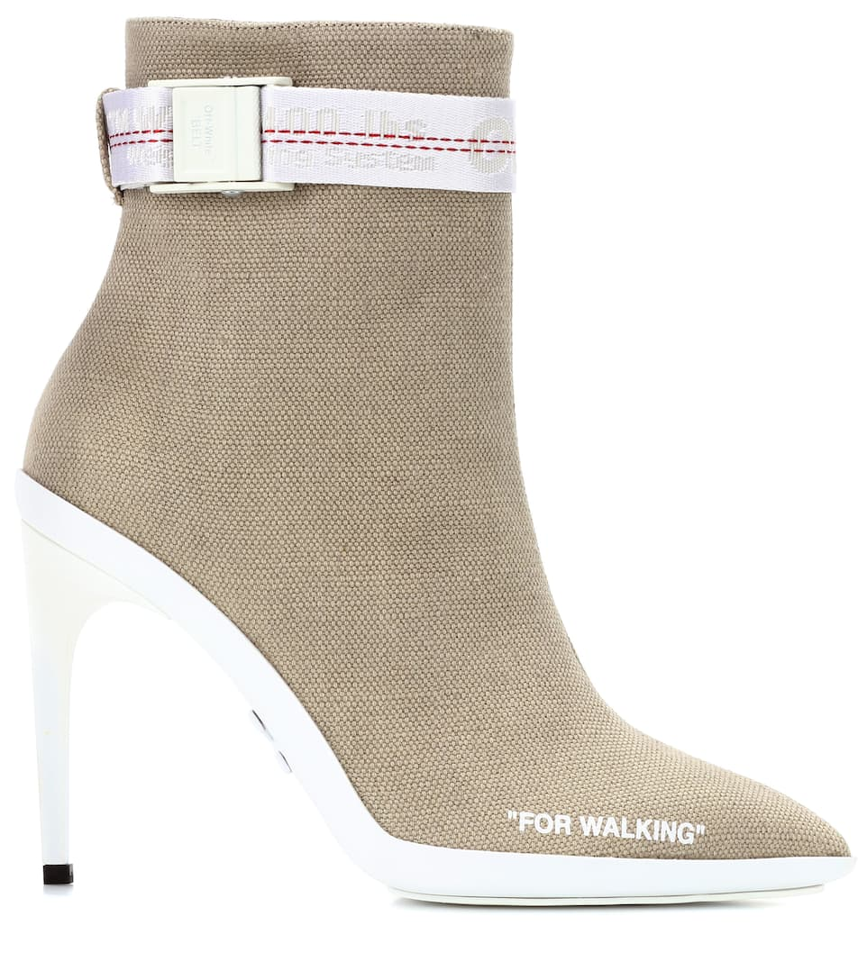 Off-White Ankle Boots For Walking