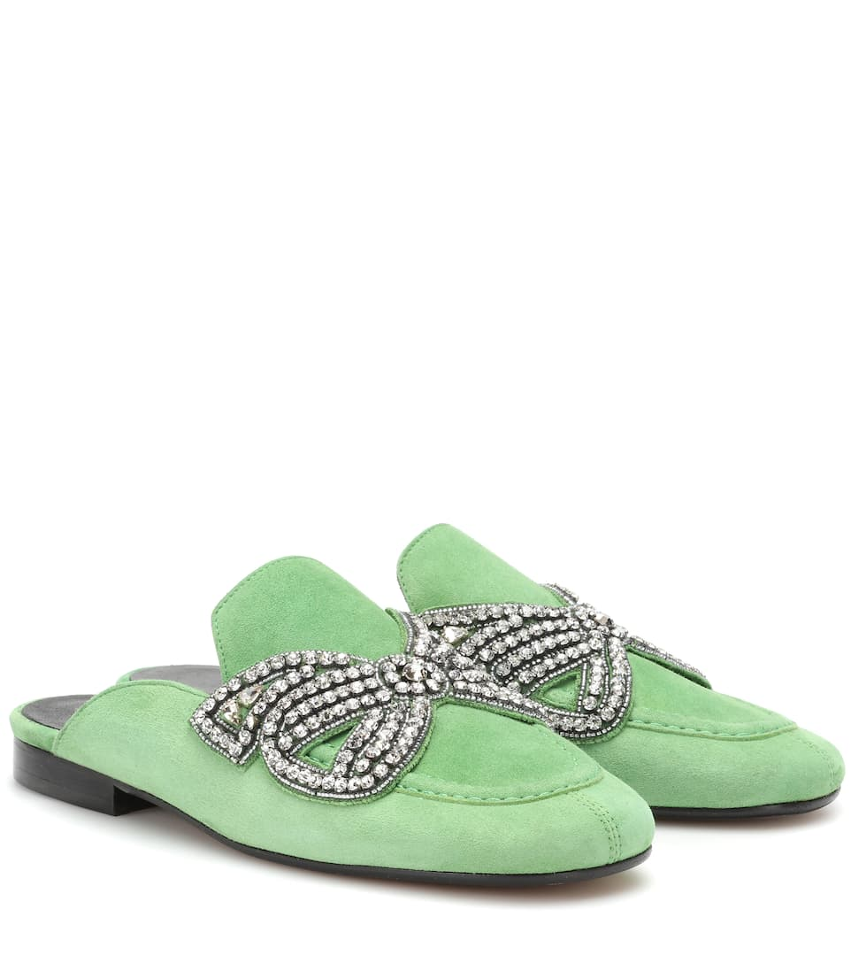 FOYLE EMBELLISHED SUEDE SLIPPERS
