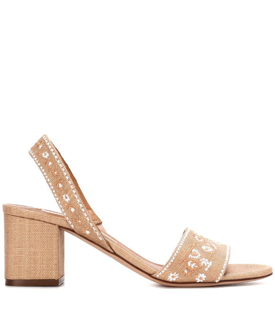 VERONICA BEARD Raffia slingback sandals Outlet Largest Supplier Free Shipping Shop For Deals Cheap Price Discount Wholesale Price sMXv5t