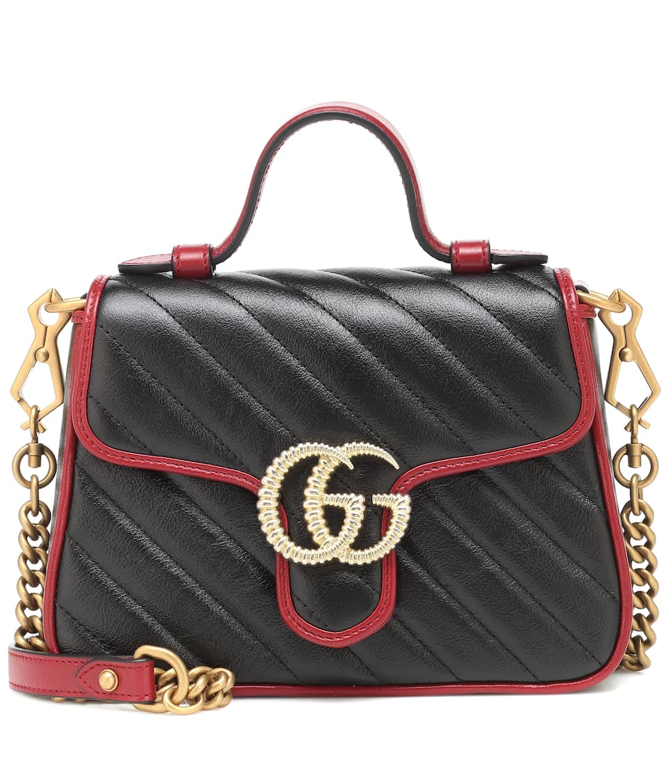 32a41c463 Gucci - GG Marmont Mini leather shoulder bag | Mytheresa