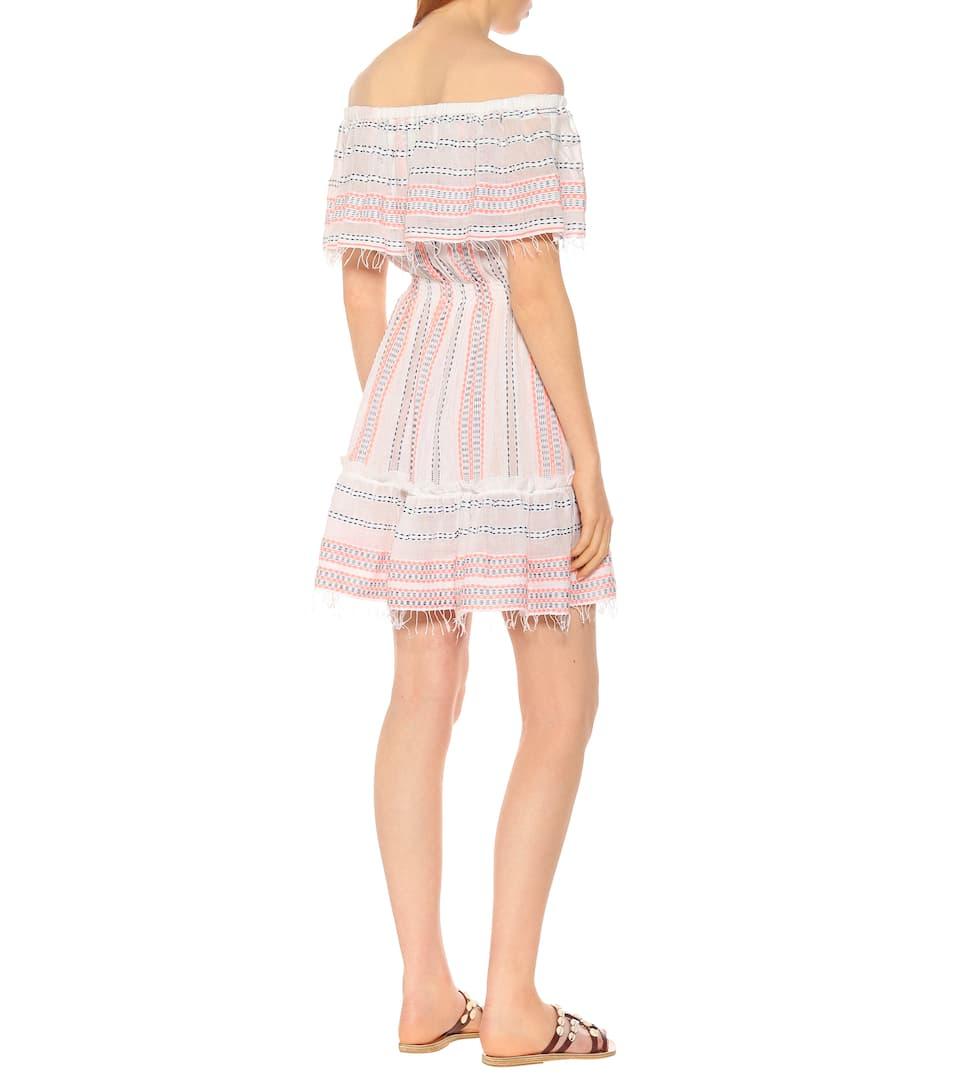 Robe En MélangéLemlem Zenha Artnbsp;p00399396 Encolure Coton N° À Bardot WEQodBCrxe
