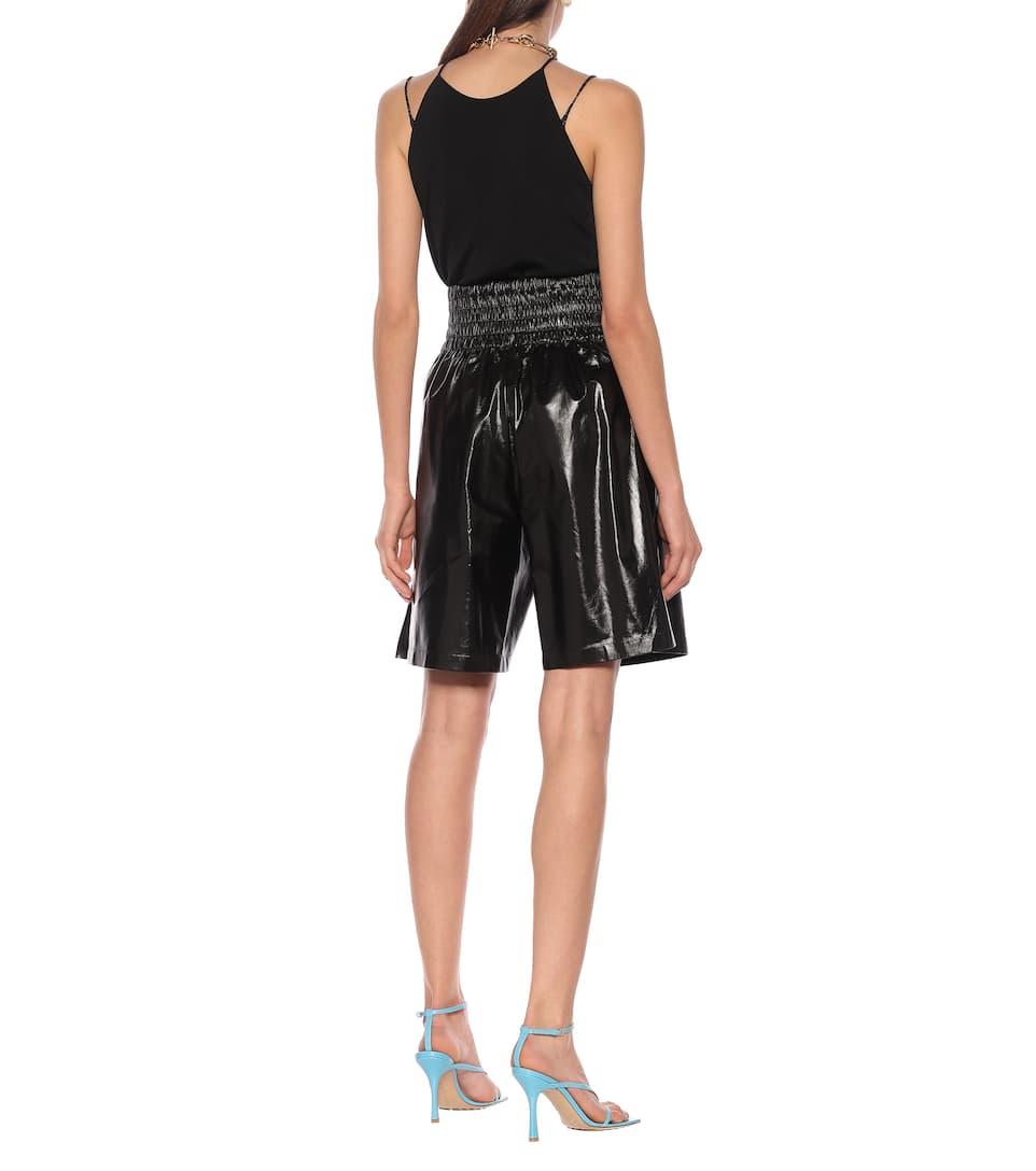 Leather Bermuda Shorts - Bottega Veneta