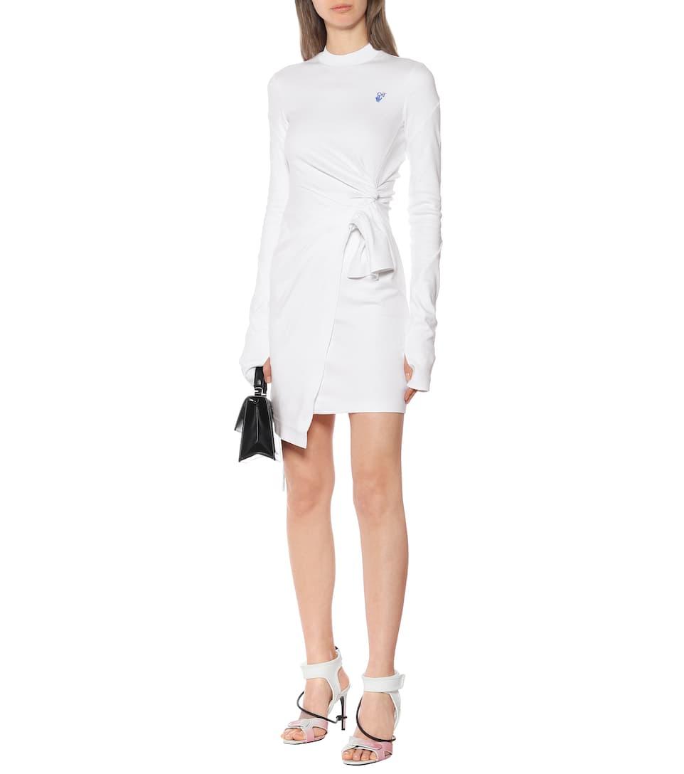 Cotton-Jersey Minidress - Off-White