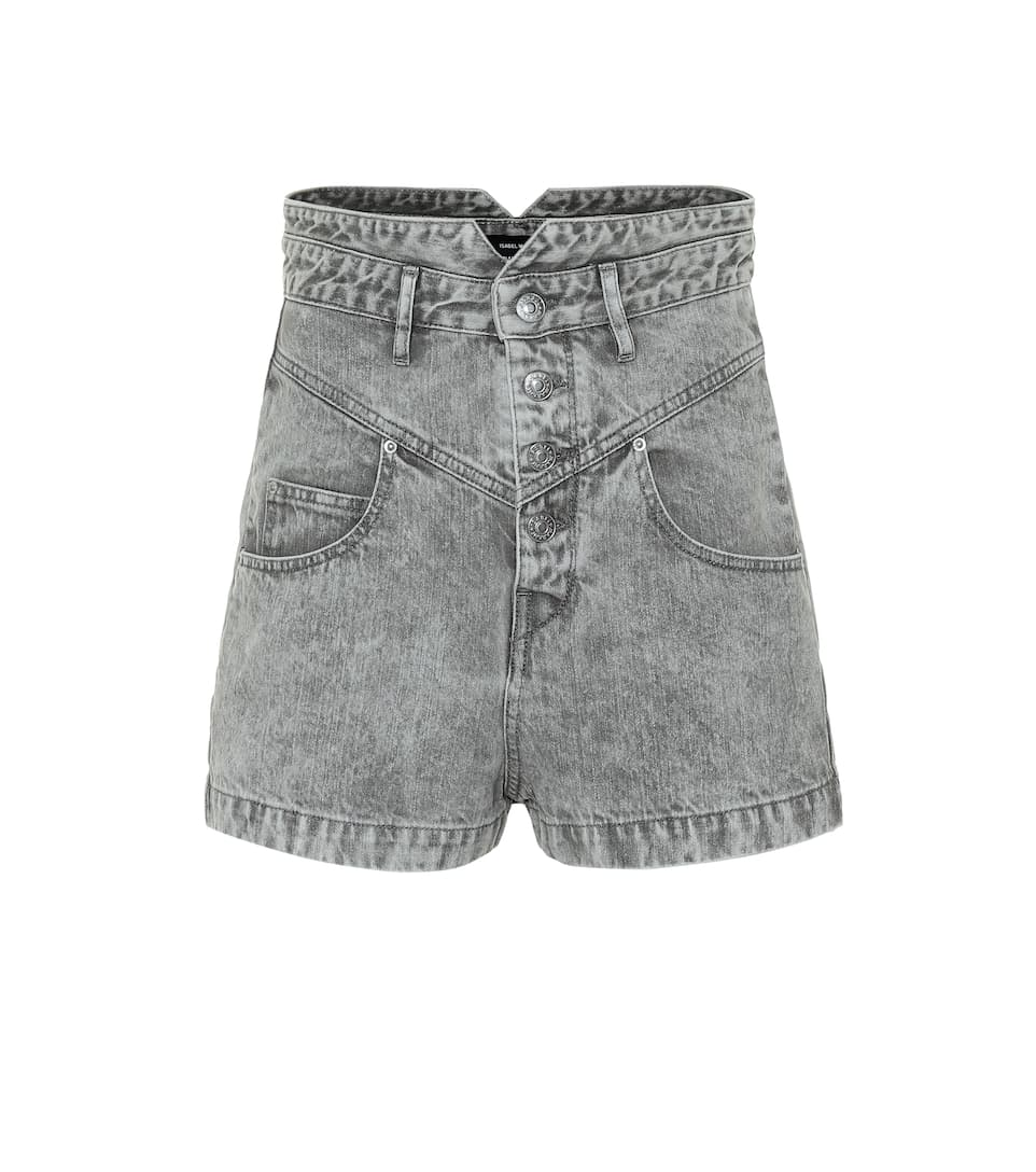 Grey High Waist Shorts