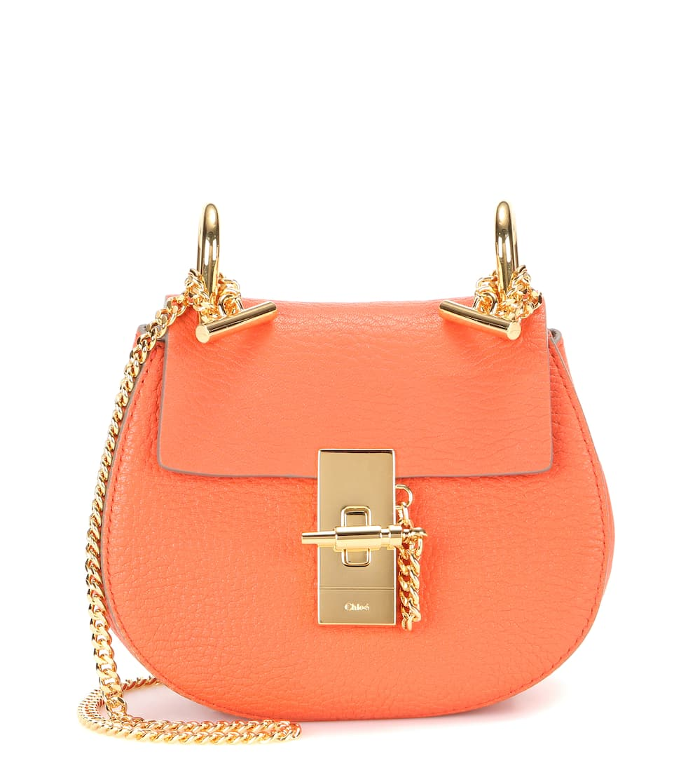 chloe tan fringed mini bracelet bag