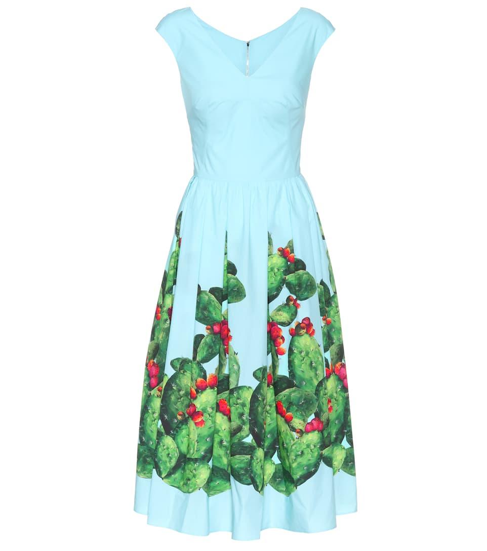 Dolce & Gabbana Exklusiv bei mytheresa.com – Bedrucktes Baumwollkleid