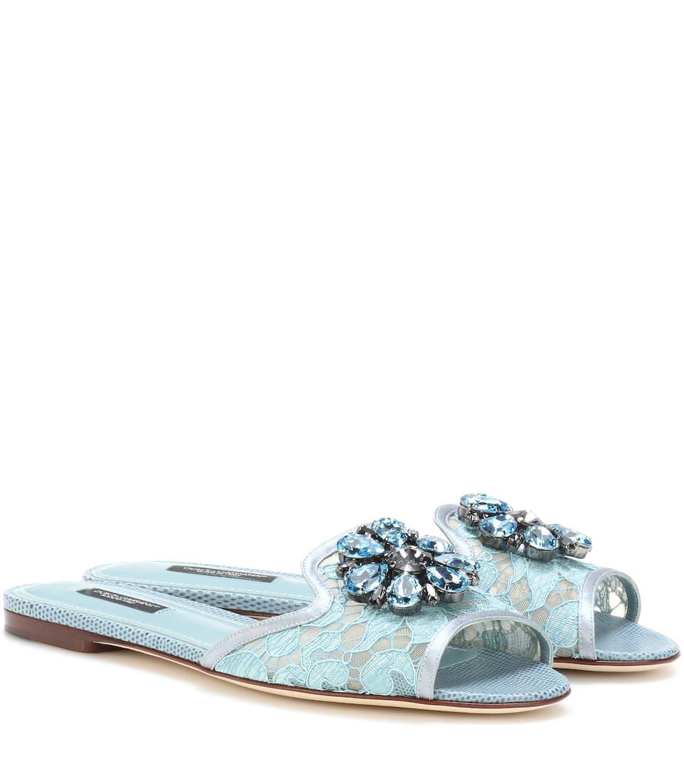 Dolce & Gabbana Verzierte Sandalen Bianca aus Spitze Zum Verkauf Günstig Online Größte Anbieter Günstig Online Mit Mastercard Günstig Kaufen Am Besten 1IyJkBG5W