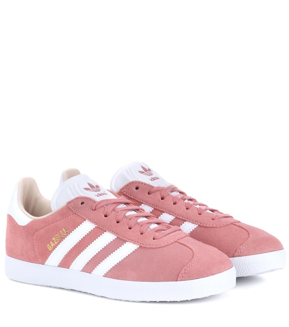 Adidas originali gazzella scamosciato scarpe rosa modesens