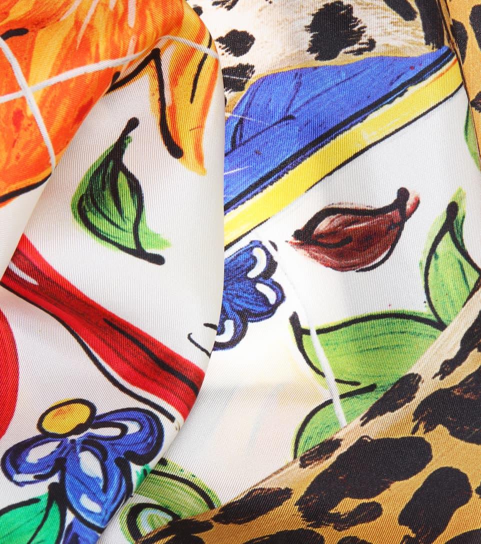Vente Commercialisable sam. Foulard En Soie Imprimée - Dolce & Gabbana Vente Pas Cher Geniue Stockiste R58M4wZW