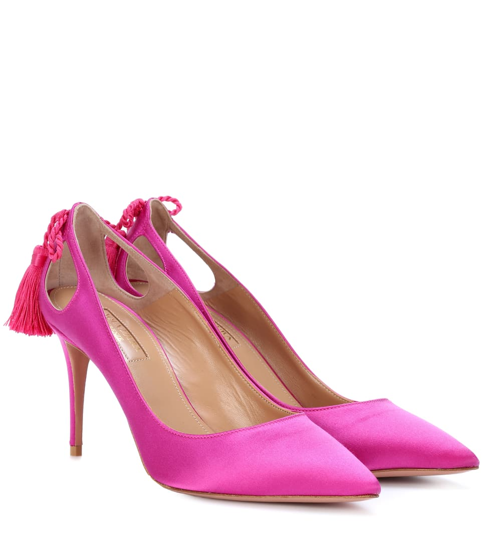 85MM FOREVER MARYLYN SATIN PUMPS