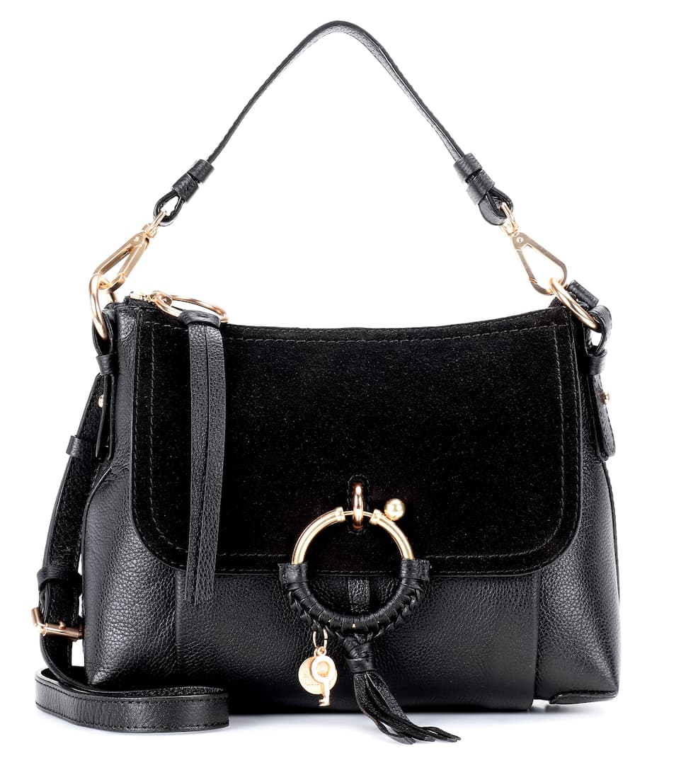 0e81f555b4 Joan Small Leather And Suede Crossbody Bag - See By Chloé