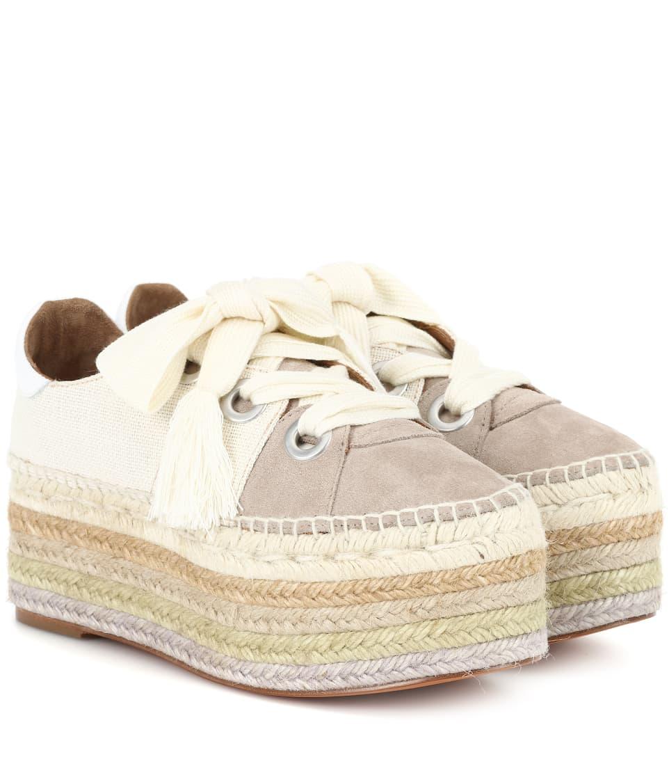 Chloé Plateau-Sneakers mit Veloursleder
