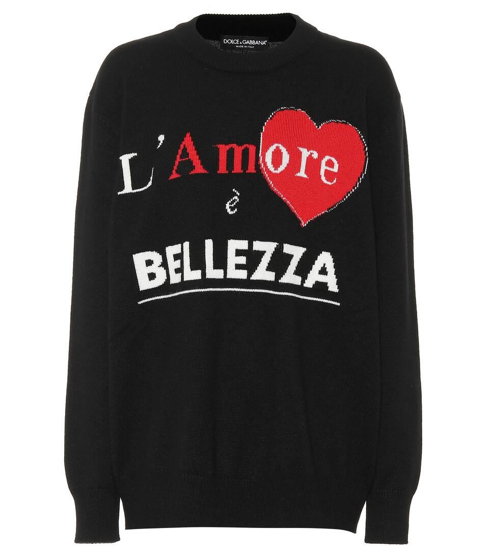 Gabbana Bellezza L'amore Cashmere Sweater Dolce È amp; 1xqFg6