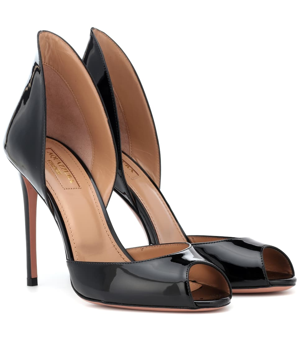 Concorde 105 Patent Leather Pumps in Black