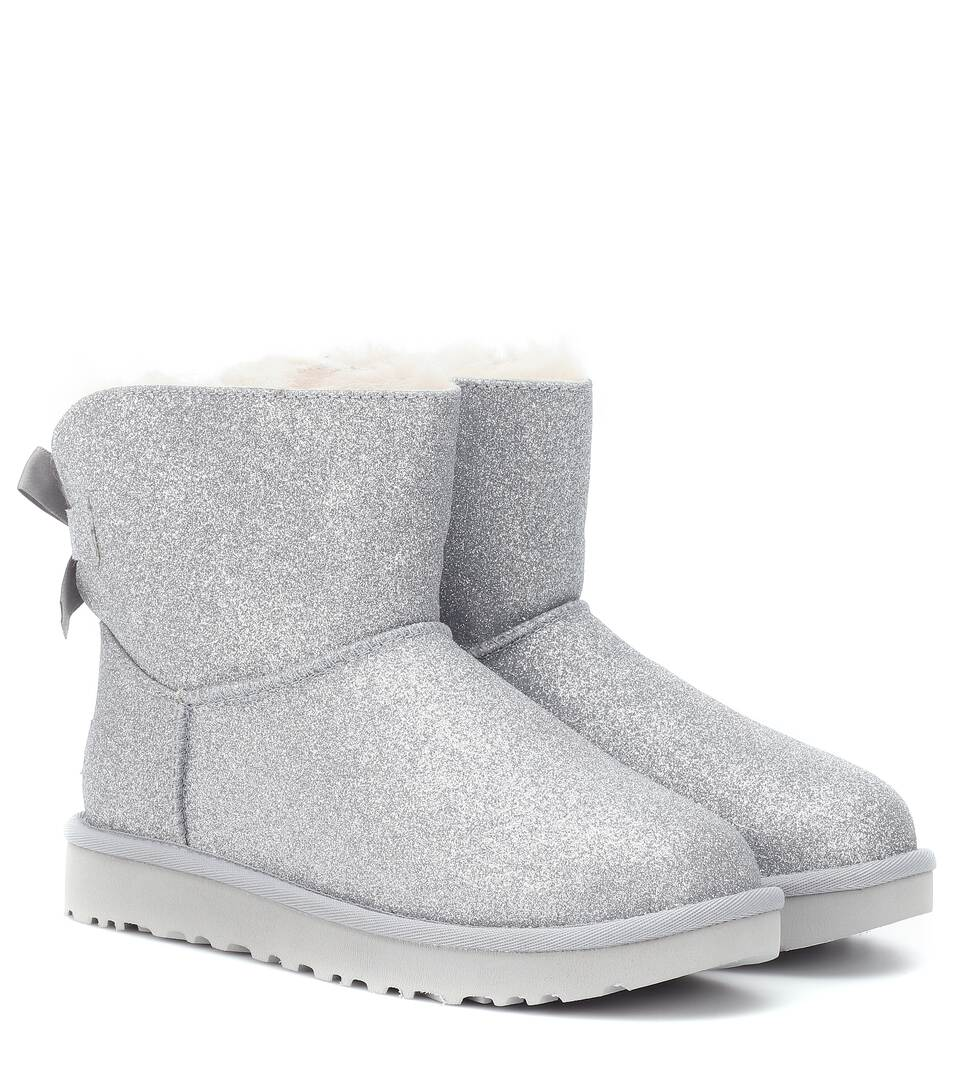 aed6e4d8447 Mini Bailey Bow glitter ankle boots