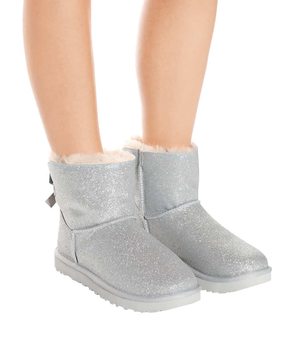 4b31196bd12 Mini Bailey Bow glitter ankle boots
