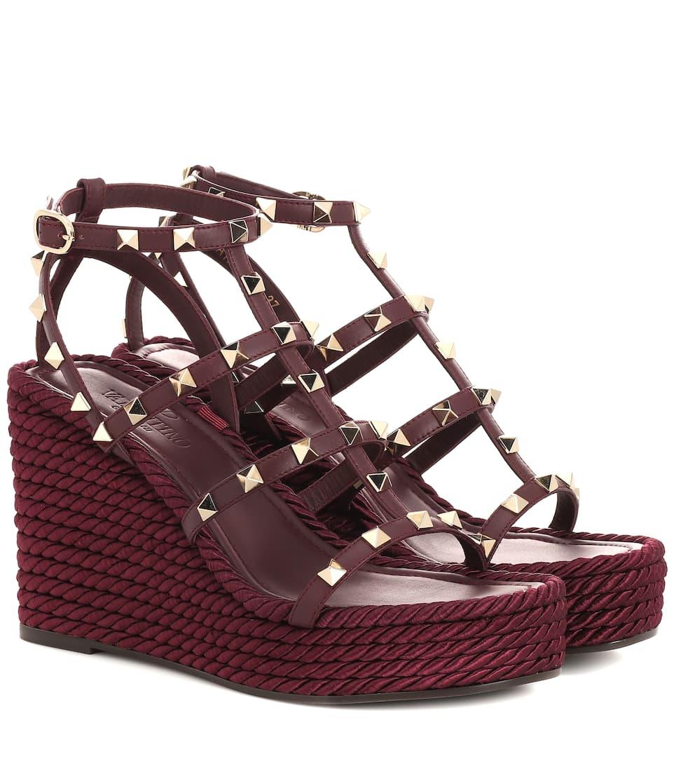 Aus Valentino Garavani sandalen Wedge nrnbsp;p00368241 Leder Art ikXOuPZ