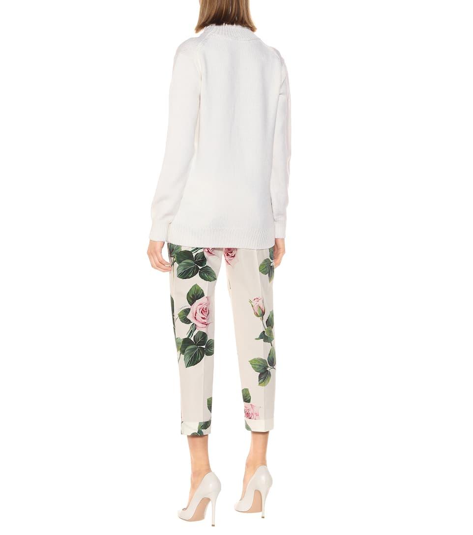 플로럴 울 블렌드 스웨터 - Dolce & Gabbana