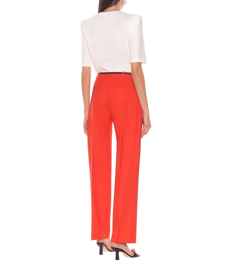 Victoria Victoria Beckham - Wool-blend straight-leg pants