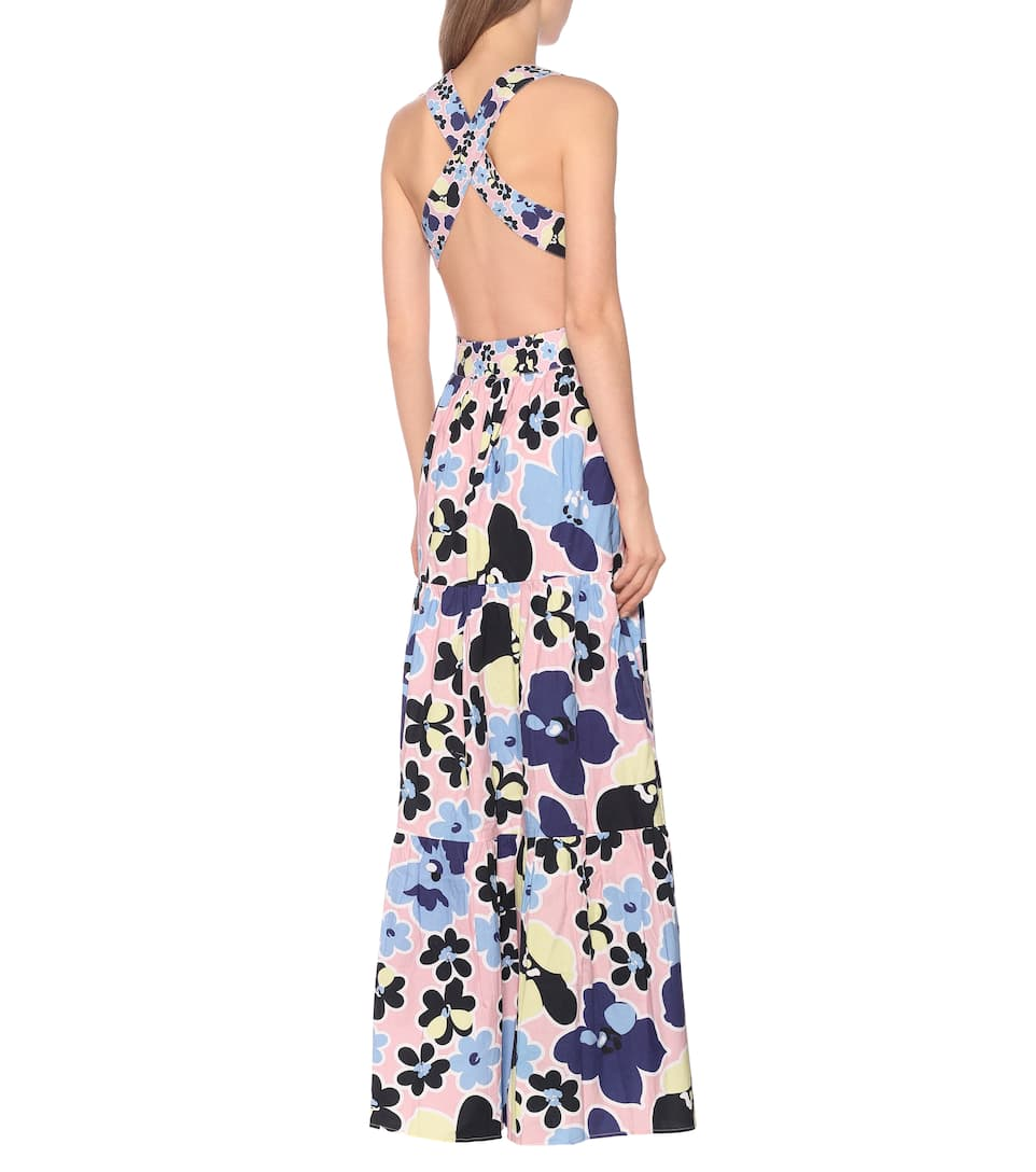 Mimi Floral Cotton Maxi Dress - Alexandra Miro