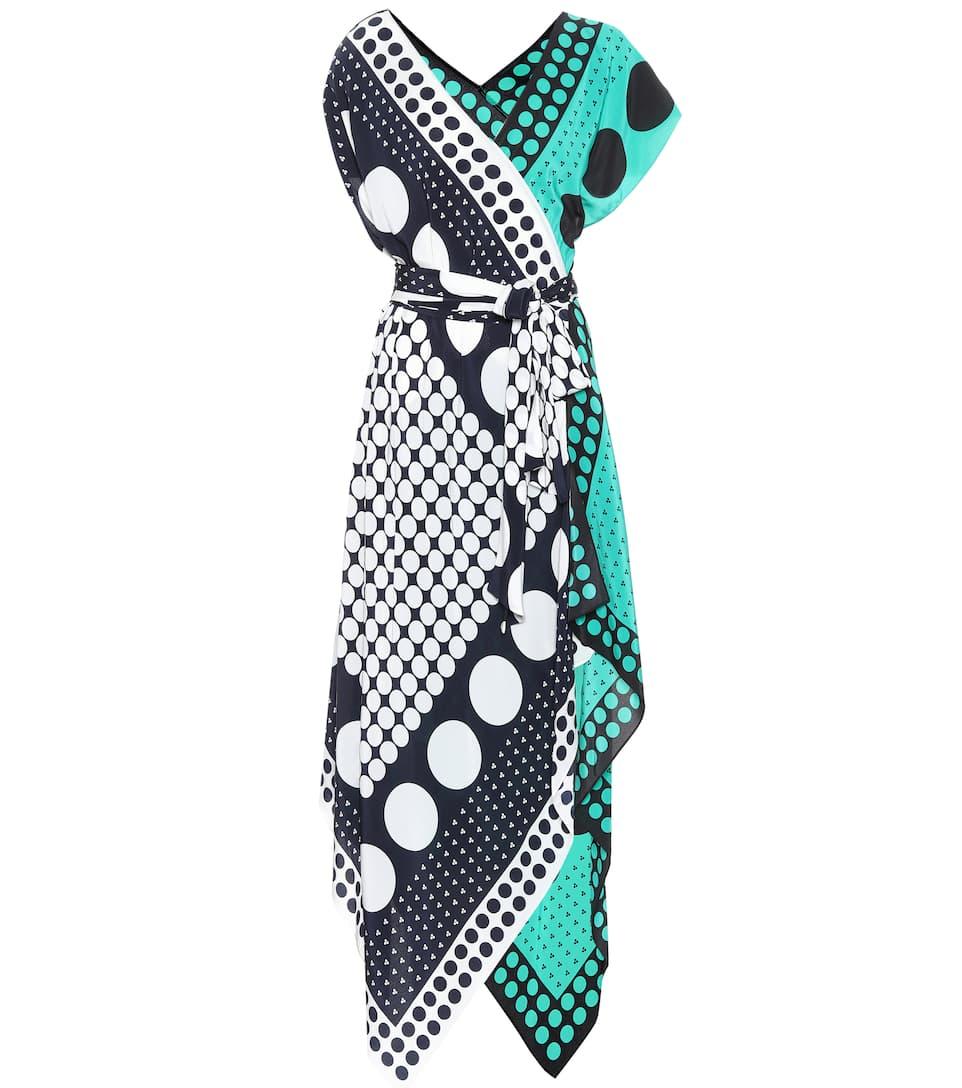 Diane von Furstenberg Asymmetrisches Seidenkleid