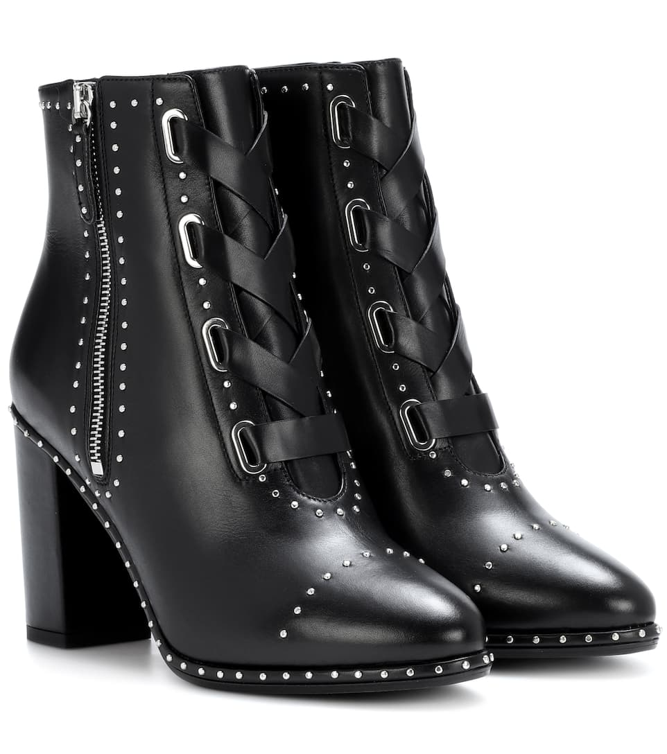 Aquazzura Ankle Boots Guns & Roses 85 aus Leder