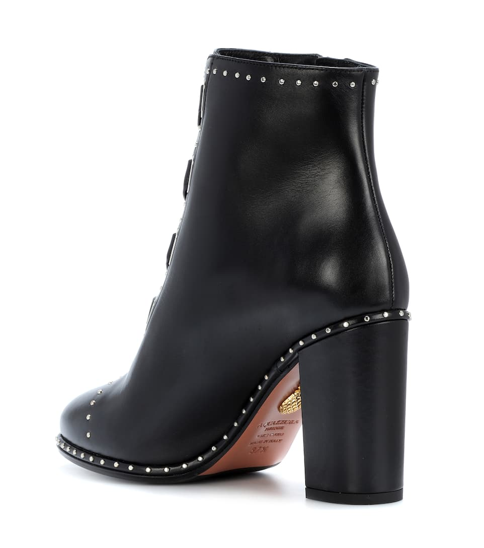Aquazzura Guns & Roses 85 leather ankle boots pick a best for sale cheap sale big sale shop for online clearance order free shipping Cf2sPFz1Vy
