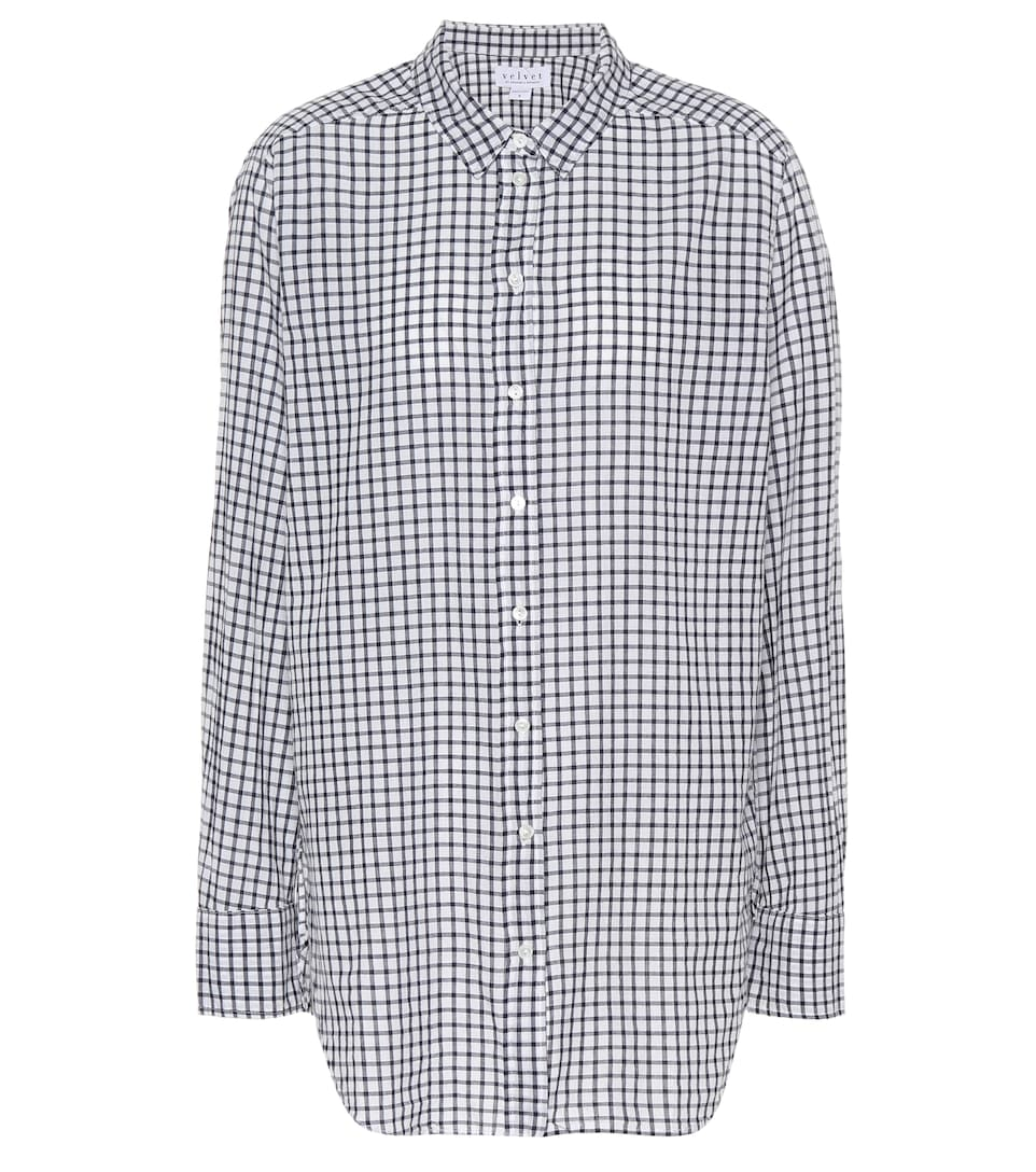 ed98a07e Rufina Plaid Cotton Shirt - Velvet | mytheresa.com