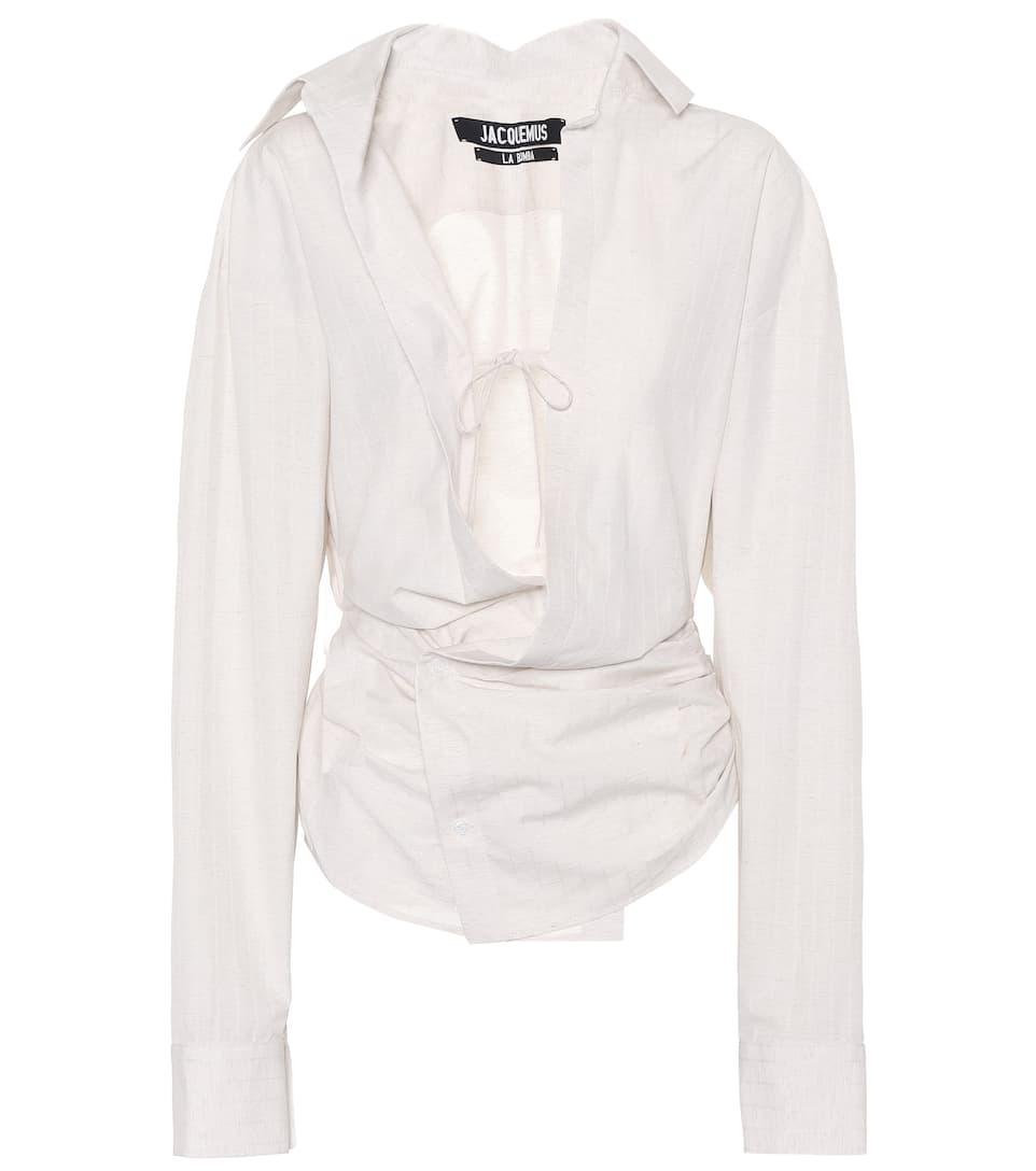 Linen Blend Shirt by Jacquemus