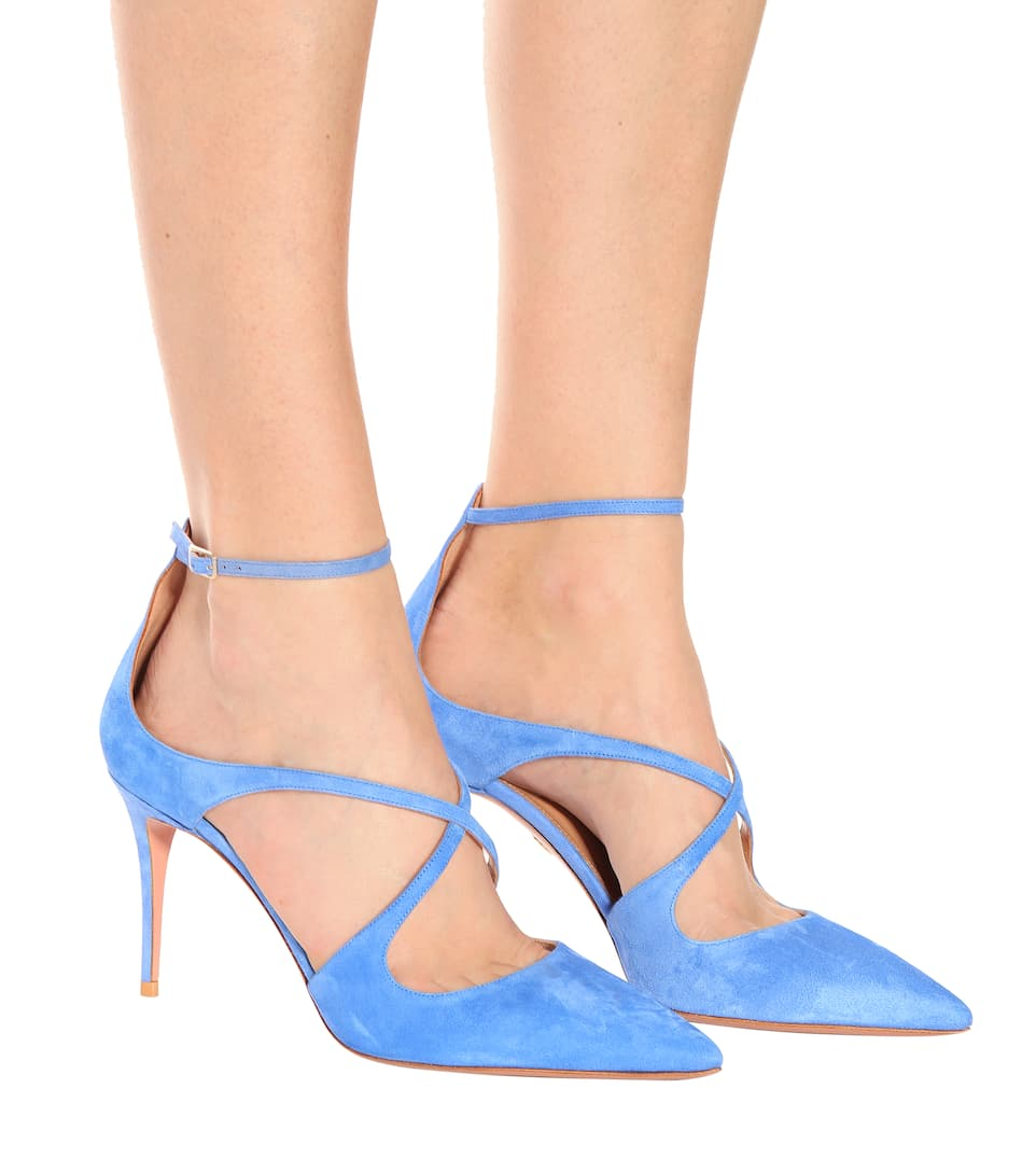 Aquazzura Pumps Viviana 85 aus Veloursleder