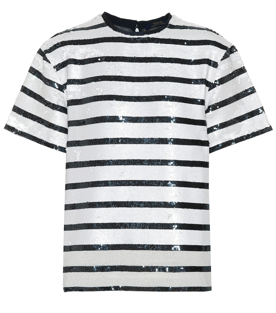 b57bc394e Striped Sequined T-Shirt - Polo Ralph Lauren