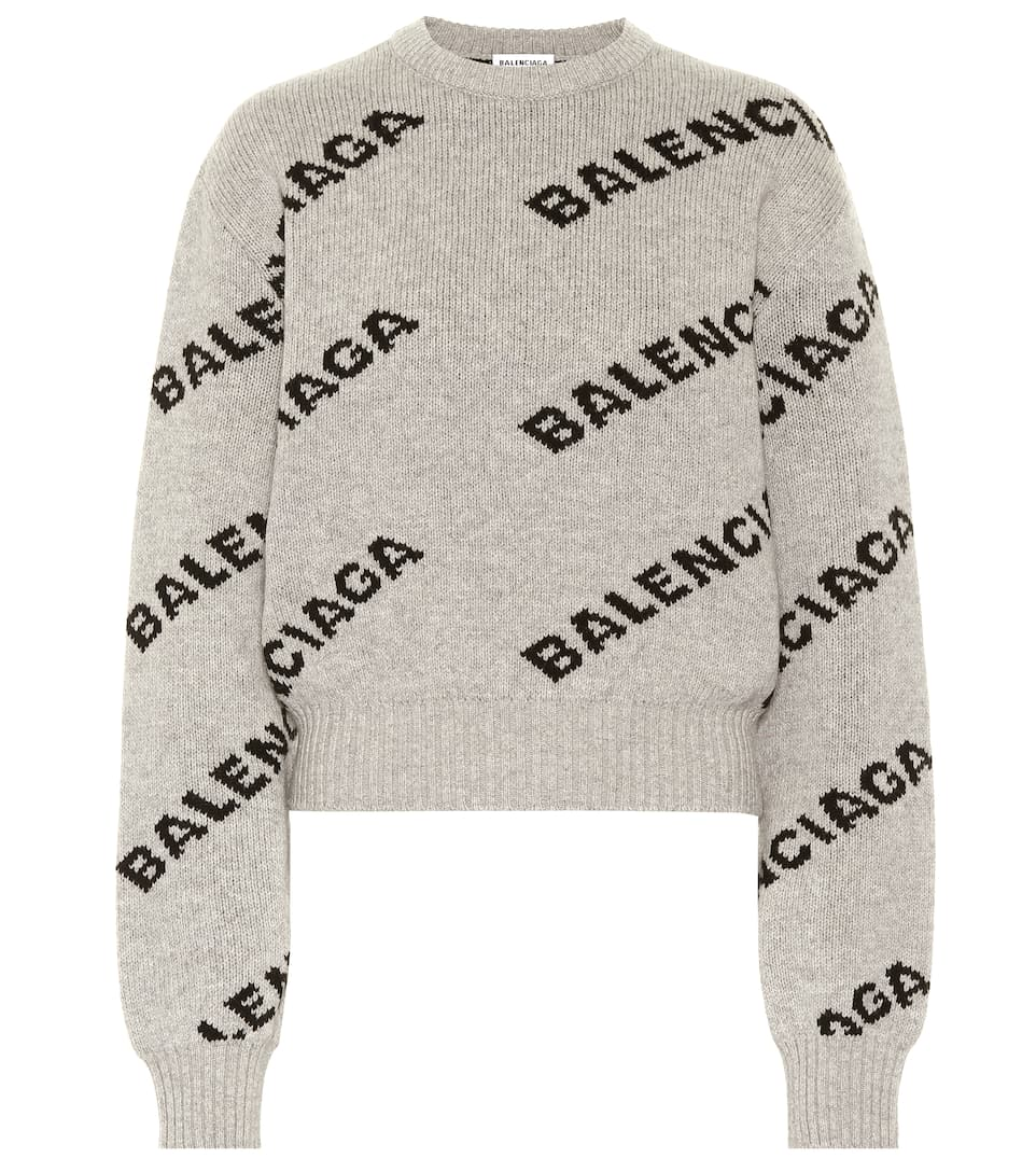 Camel Hair And Wool Blend Sweater by Balenciaga
