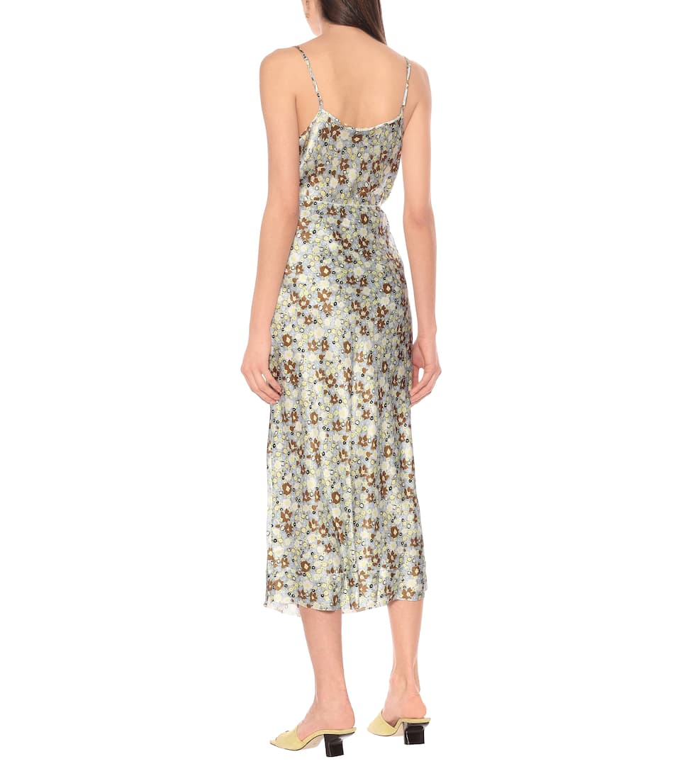 Bella Floral Silk-Satin Midi Skirt - Lee Mathews