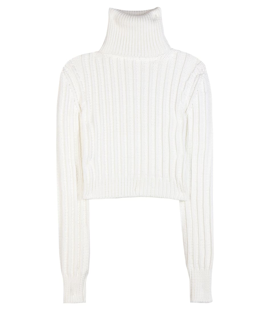 Cropped Turtleneck Sweater | Calvin Klein Collection - mytheresa.com