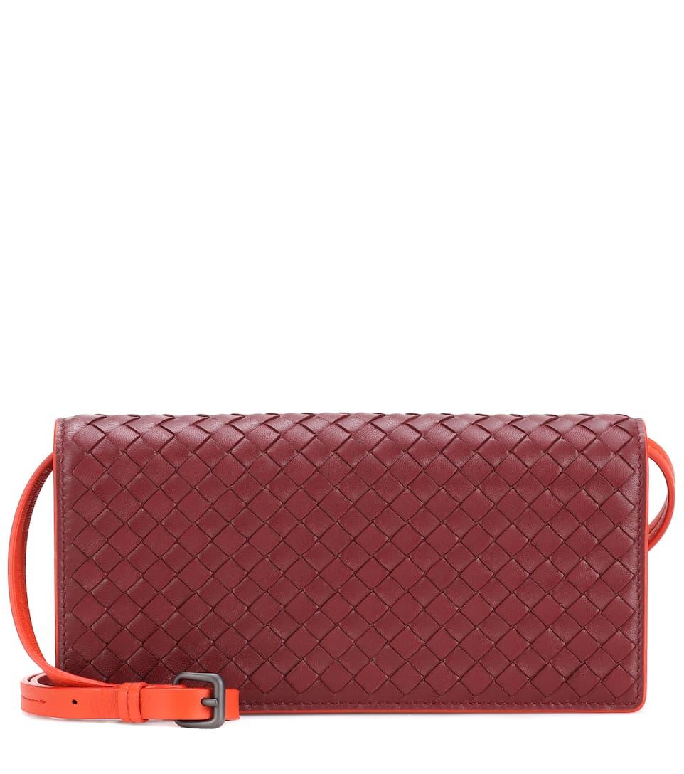 Bottega Veneta Schultertasche aus Leder mit Intrecciato-Details