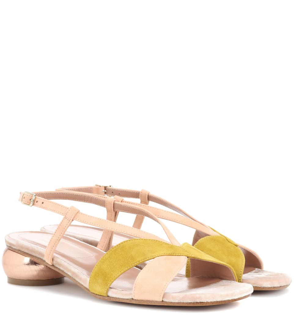 with paypal online Dries Van Noten Slingback Leather Sandals free shipping exclusive sale with mastercard 3Roknc