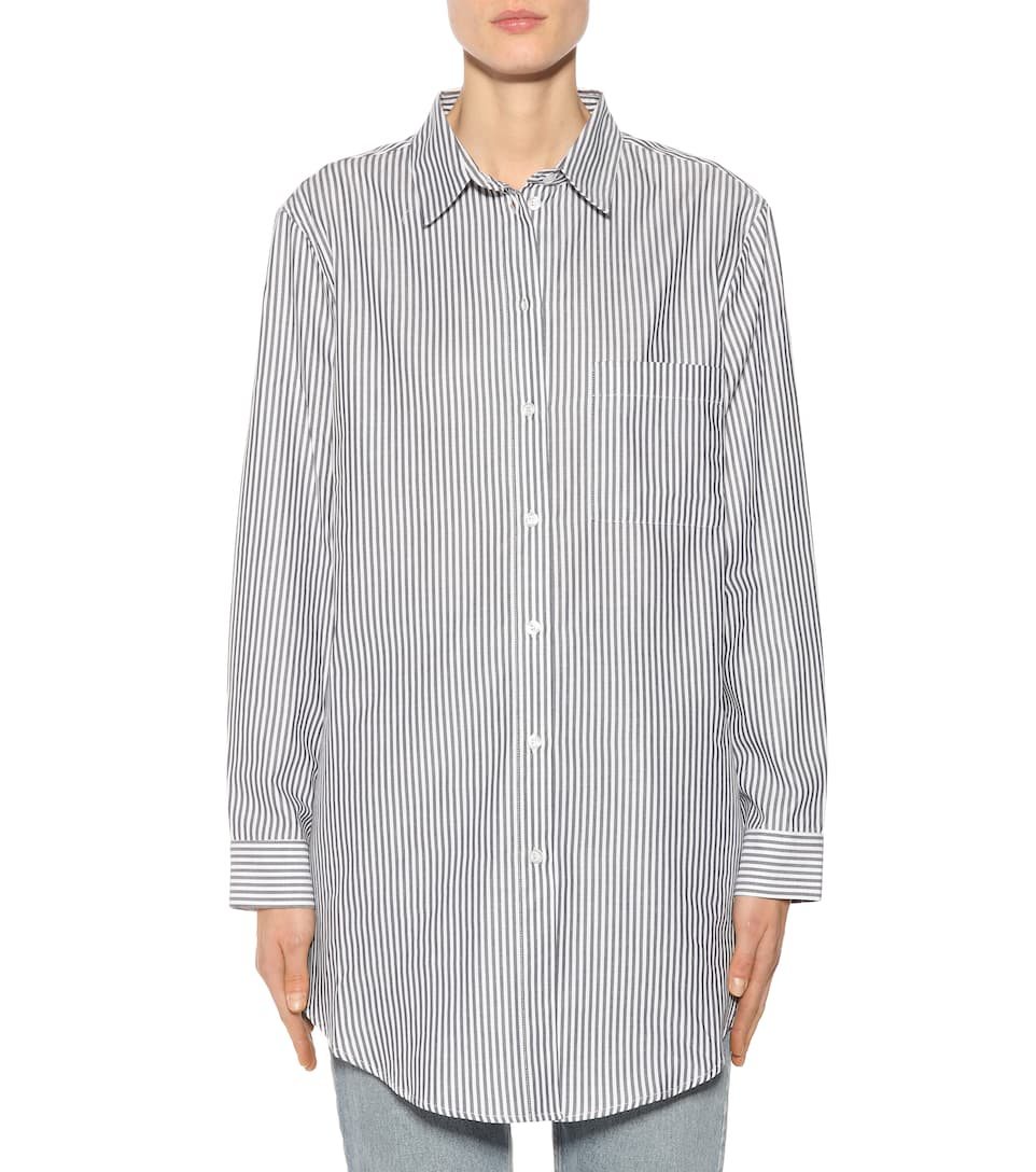 Asceno Striped Blouse Made Of Cotton