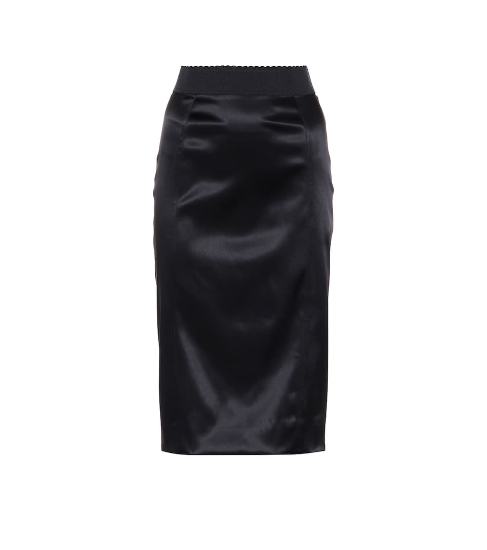 39e399f03f3a2f Satin Pencil Skirt - Dolce   Gabbana