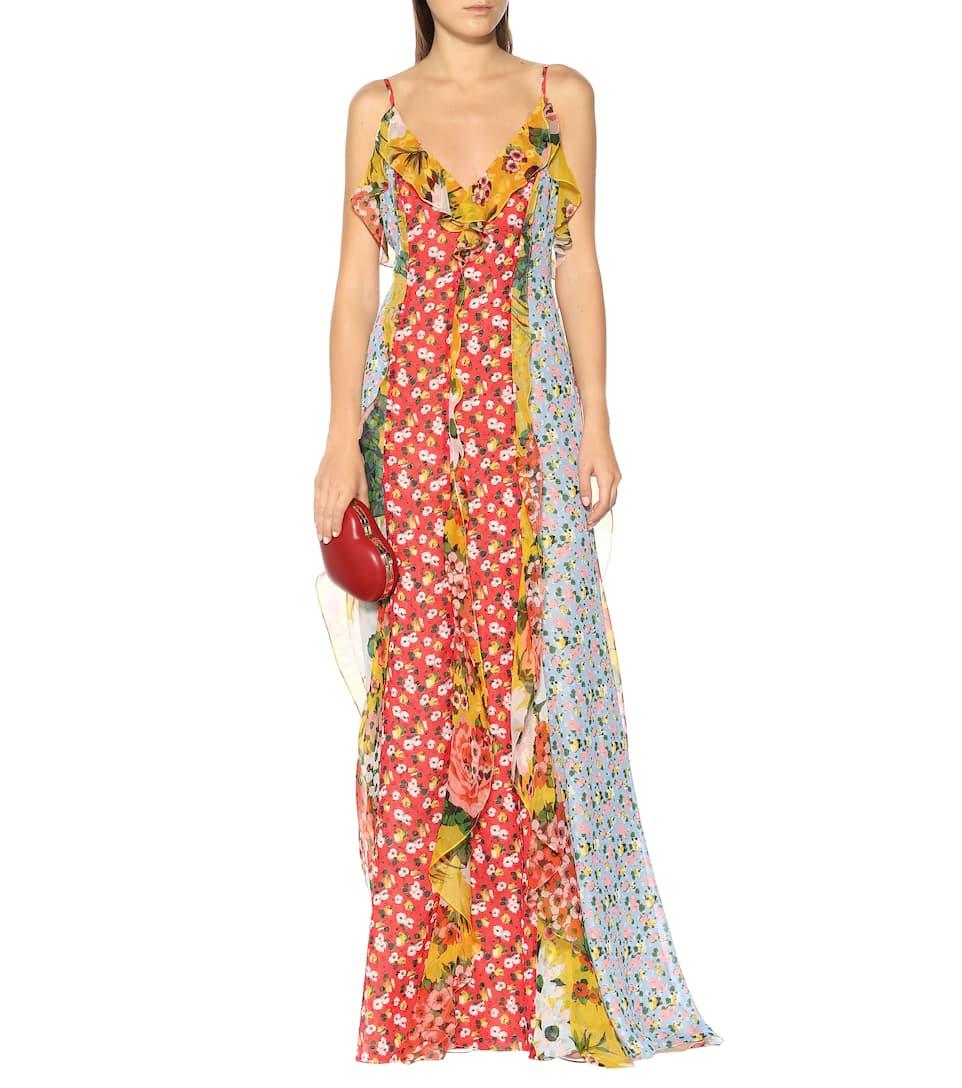 ff214b48a2165 Floral Chiffon Gown - Carolina Herrera   Mytheresa
