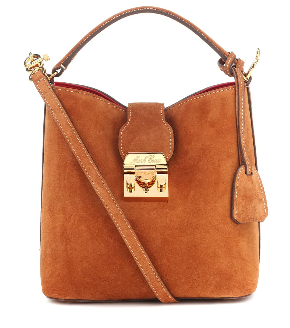 5ff3a56b9b Mark Cross - Murphy Small suede bucket bag | Mytheresa