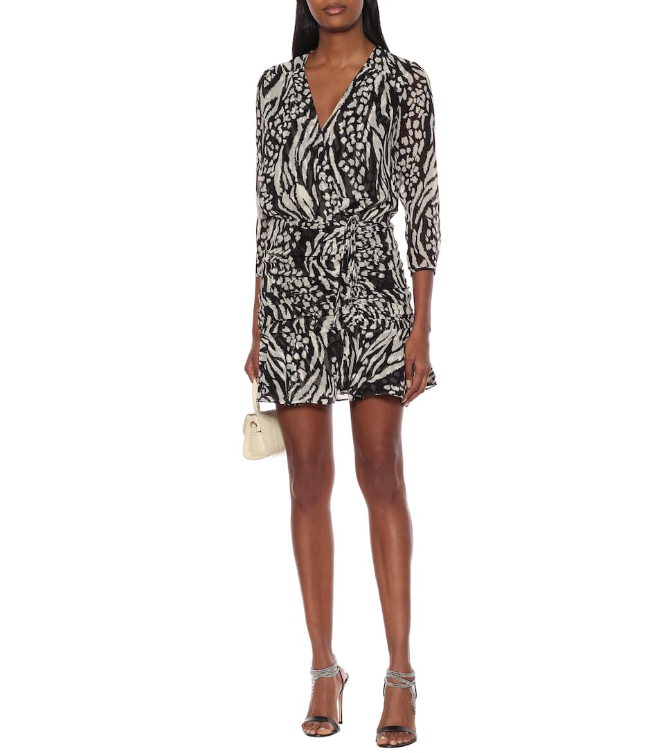 Veronica Beard - Kiran animal-print silk minidress
