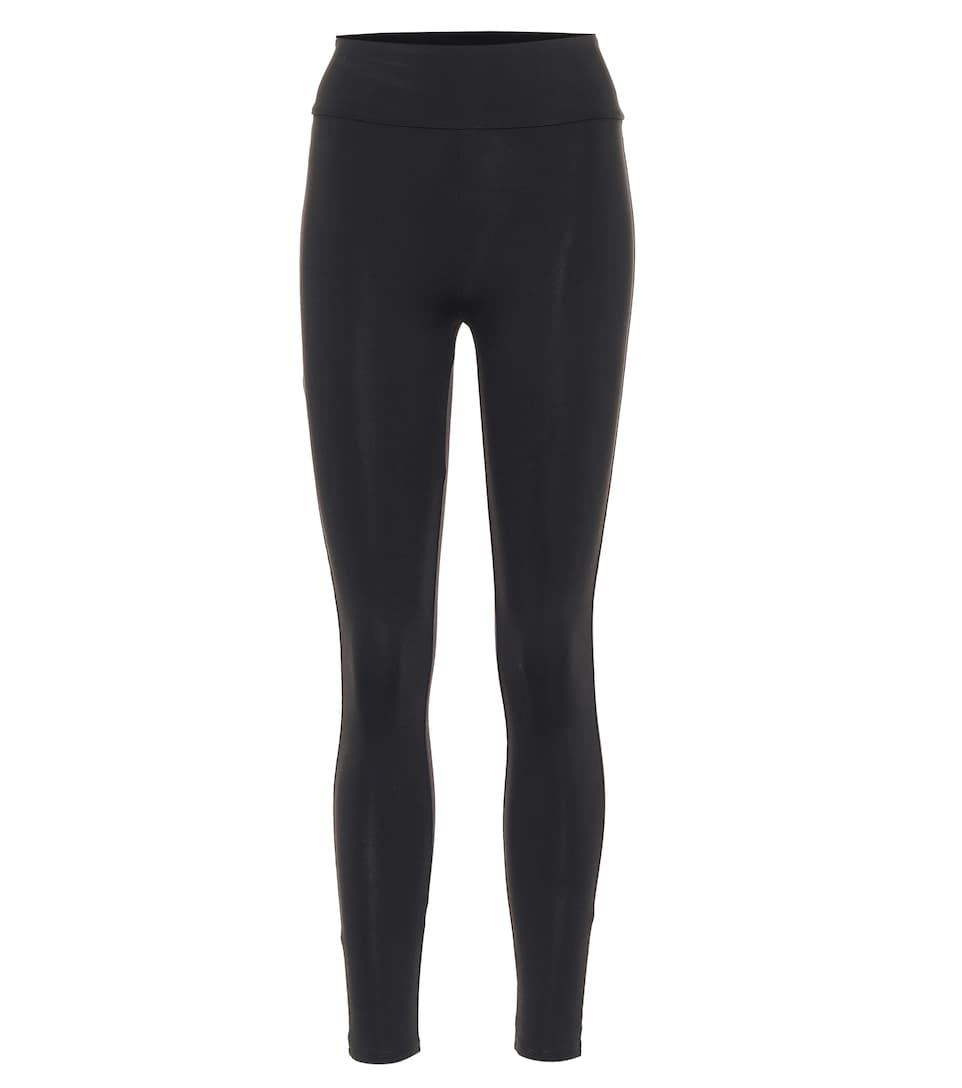 Live The Process Geometric High-rise Stretch-jersey Leggings In Black