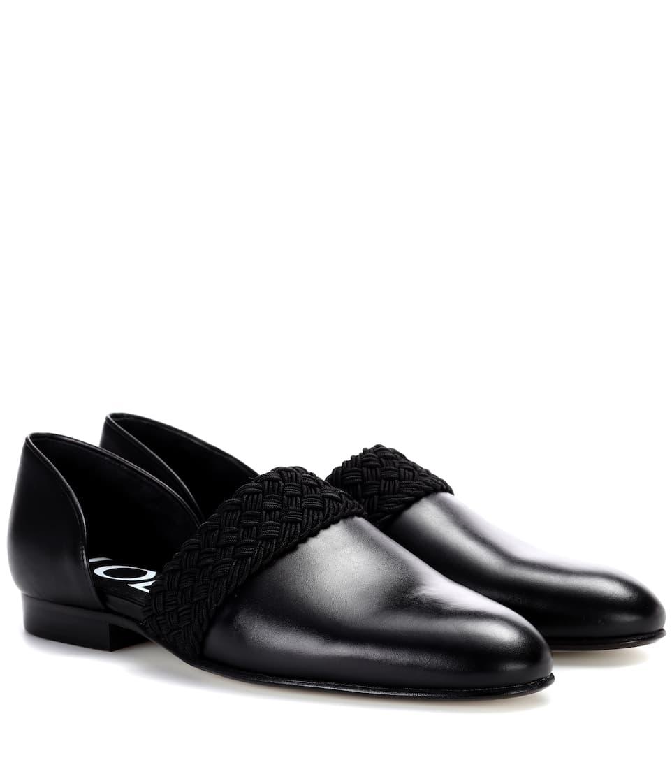 Loewe Slippers aus Leder