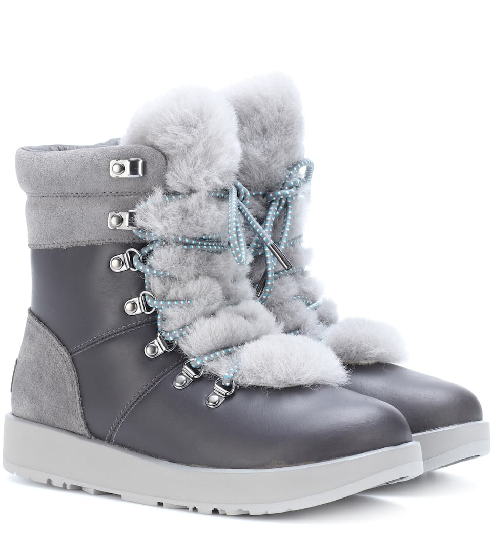 Viki Waterproof Leather Ankle Boots Ugg Australia Mytheresa - Free custom invoice template official ugg outlet online store