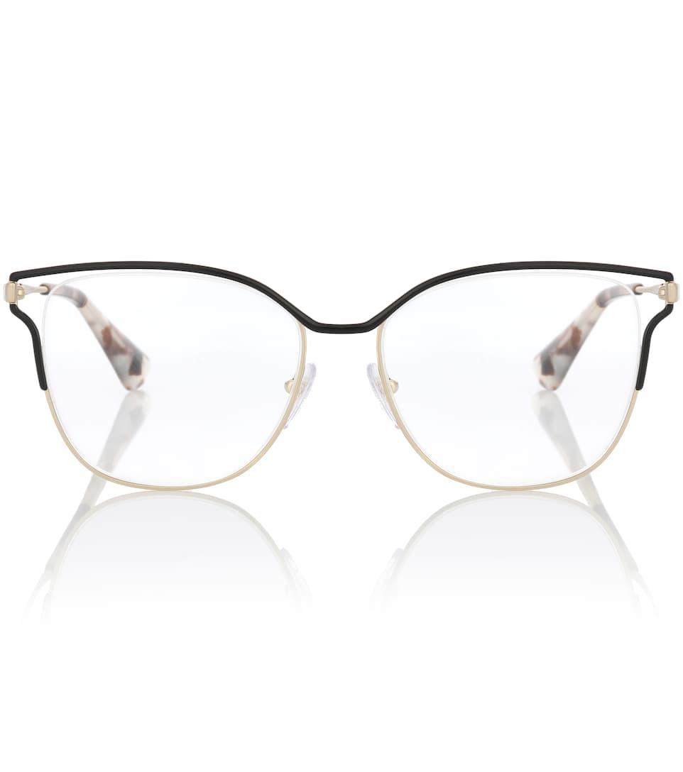 802a70835512 metal-square-glasses by prada